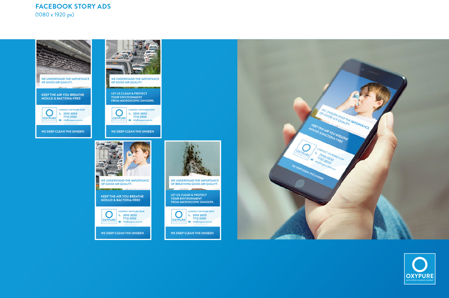 OXYPURE – Branding Mock Up Visuals 2-3